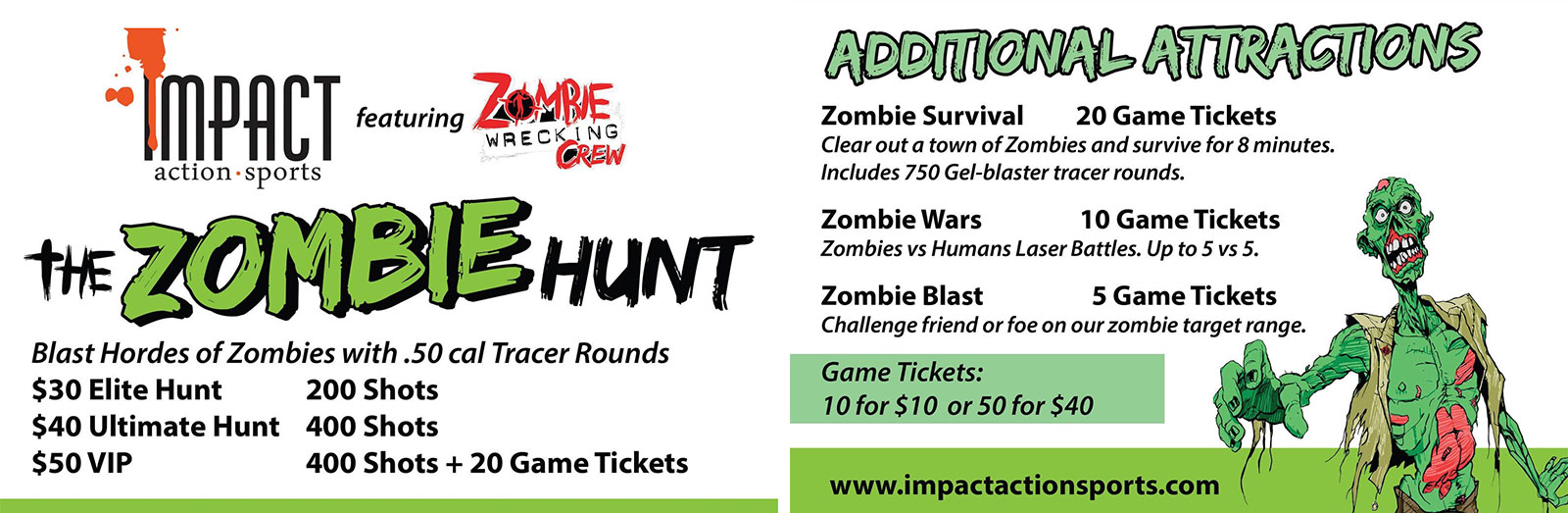 Zombie Wrecking Crew Paintball Hunt Event for October